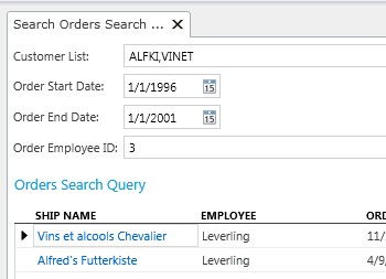 LightSwitch Search Screen Set Default Value for Parameter