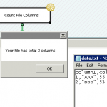 Get File Column Count using SSIS C# Script Task