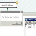 Get File Column Count using SSIS C# Script Task