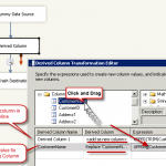 How to use SSIS Derived Column Transform